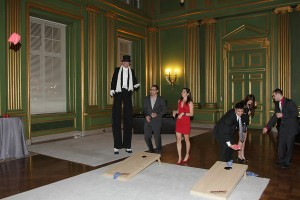 Game and bar rental, charity event managers in DC, corporate staffing, stilt walkers